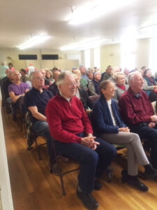 attendees for talk with author and geologist Thomas Cochrane at Sonoma Valley Historical Society March 2019